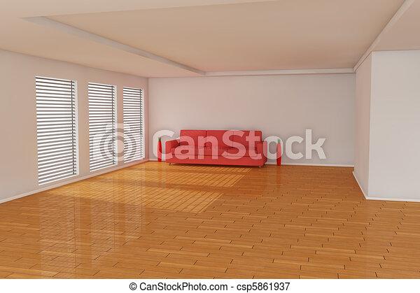 Sofa 3d rendering - csp5861937