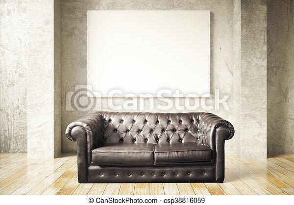 Swell Sofa And Blank Billboard Machost Co Dining Chair Design Ideas Machostcouk
