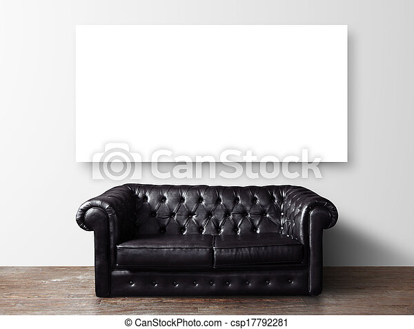 sofa and poster - csp17792281