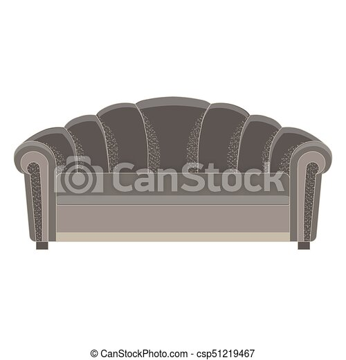 Remarkable Sofa Black Vector Isolated Illustration Modern Furniture White Seat Style Luxury Bralicious Painted Fabric Chair Ideas Braliciousco