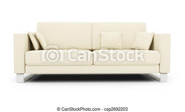 sofa, blanc, sur - csp2692203