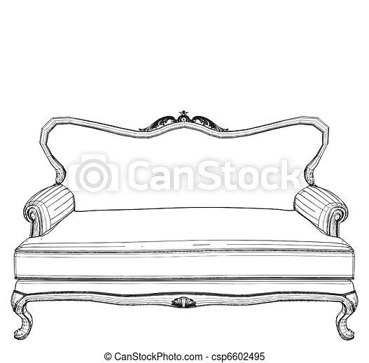 sofa, classique - csp6602495