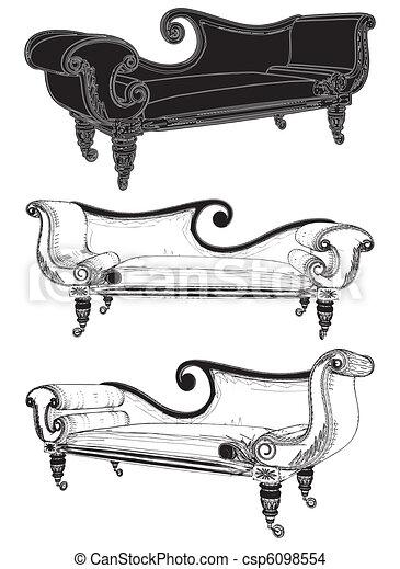 sofa, classique - csp6098554