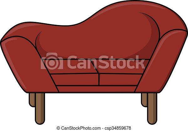Sofa design illustration - csp34859678