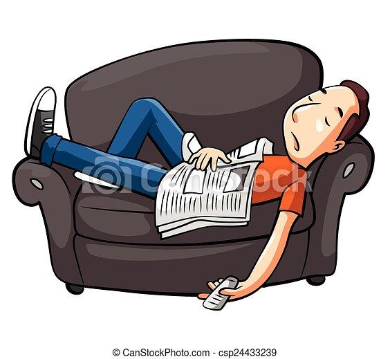 sofa, entspannen - csp24433239