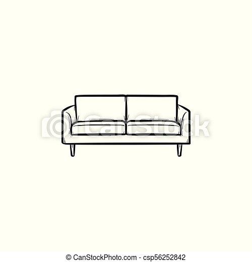 Sofa Hand Drawn Sketch Icon Sofa Hand Drawn Outline Doodle Icon