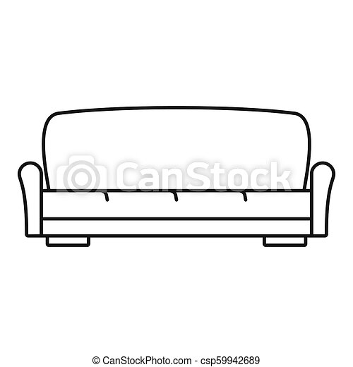 Sofa Icon Outline Style Sofa Icon Outline Illustration Of Sofa
