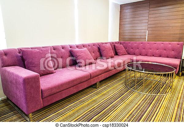 Sofa in modern living room . Sofa in modern living room stock photo ...