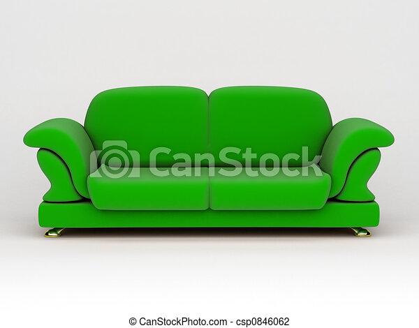 sofa on white background - csp0846062