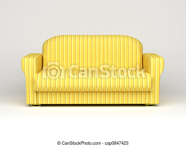 sofa on white background - csp0847423