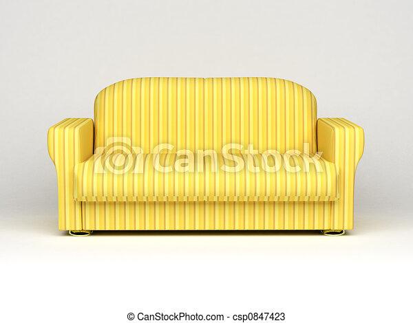 sofa on white background - csp0847423
