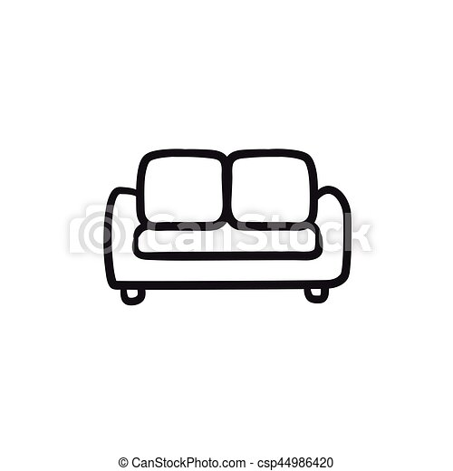 Sofa Sketch Icon Sofa Vector Sketch Icon Isolated On Background