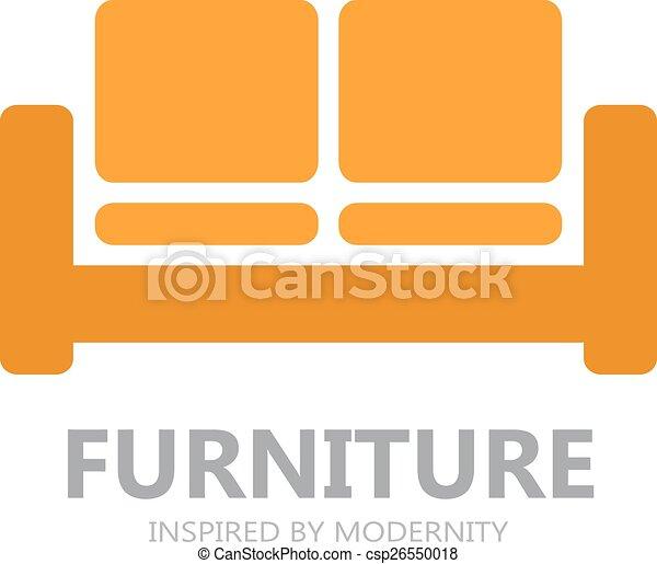 sofa, symbole, logo, icône, ou, meubles - csp26550018