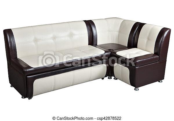 Sofa, zerlegbar, kueche , bett, nachahmung, leder, ecke ...
