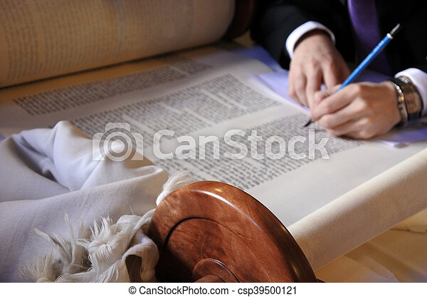 A Sofer Finishing The Final Letters Of Sefer Torah In Torahs 613 Commandments Second To Last Is That Every Jew Should Write