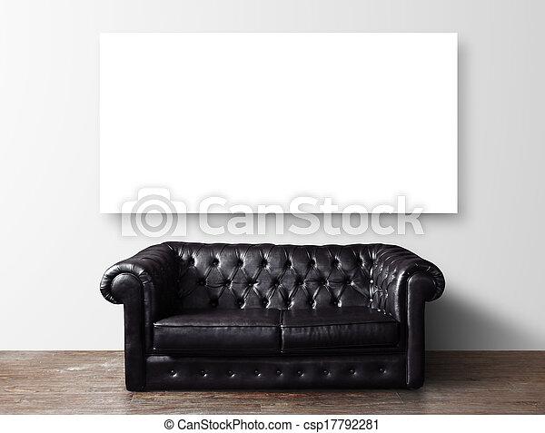 soffa, affisch - csp17792281