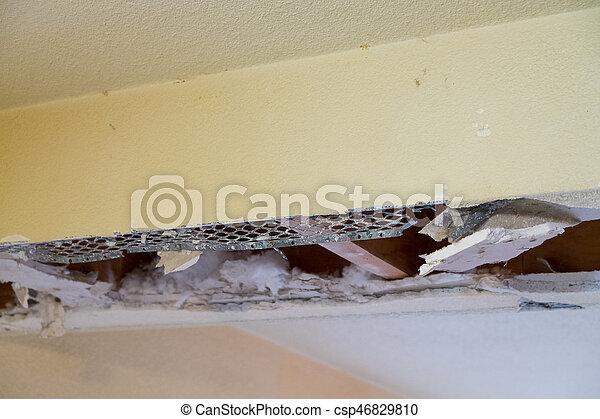 Soffit Demo Home Remodel - csp46829810