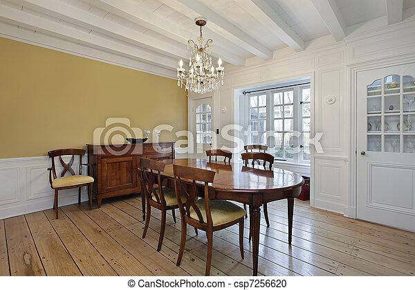 Soffitti In Legno Bianco : Soffitto stanza raggi cenando legno bianco. soffitto stanza