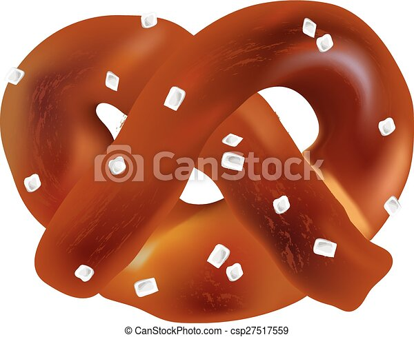 soft bavarian pretzels vector objects on a white background clipart rh canstockphoto com pretzel clip art free pretzel clip art black and white