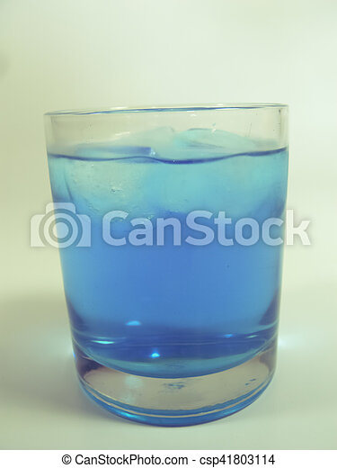 Soft drink in a Glass with Ice - csp41803114