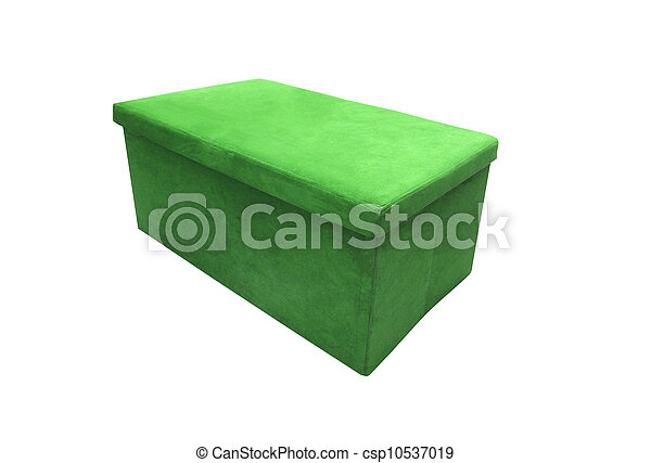 Soft footstool isolated on white background - csp10537019