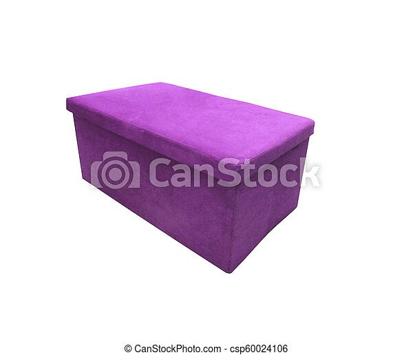 Soft footstool isolated on white background - csp60024106