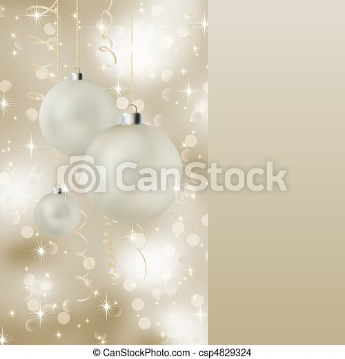 Soft light christmas card - csp4829324