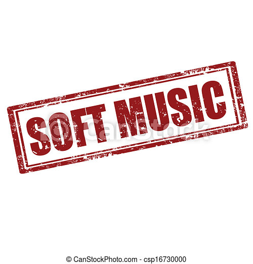 Soft Music Stamp Grunge Rubber Stamp With Text Soft Musicvector