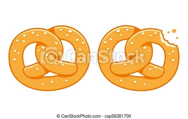 Soft pretzel illustration - csp56381700