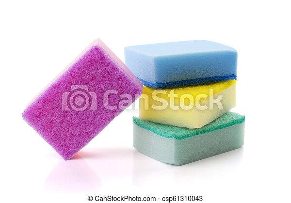soft sponge isolated on white background - csp61310043