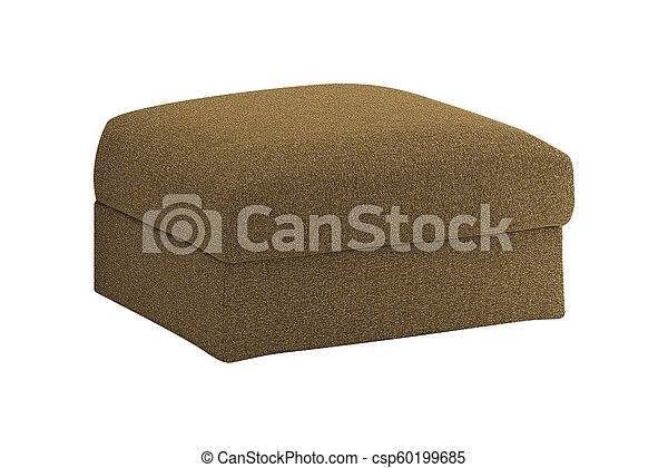 Soft stool. isolated on white background - csp60199685