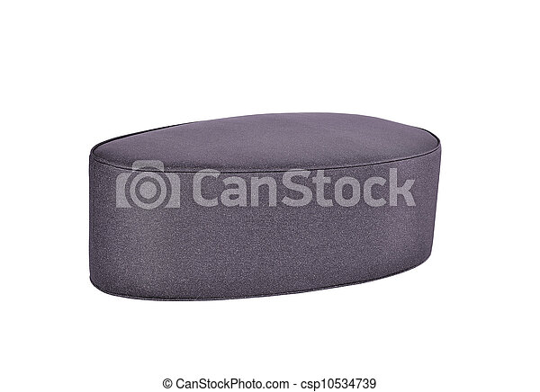 Soft stool. On a white background. - csp10534739