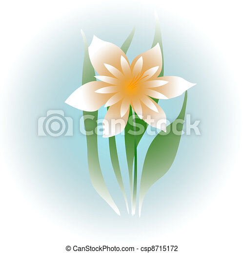 Soft white flower pale yellow flower on blue background clip art soft white flower csp8715172 mightylinksfo