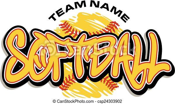 softball design - csp24303902