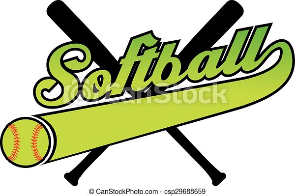 softball with banner and ball illustration of a softball clipart rh canstockphoto com
