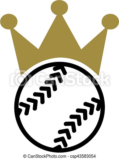 softball with crown clipart vector search illustration drawings rh canstockphoto com softball pitcher vector art softball clipart vector