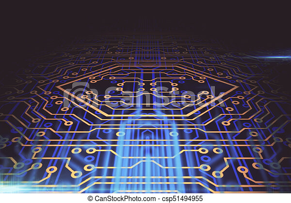 Abstract circuit board background. software concept. 3d rendering.