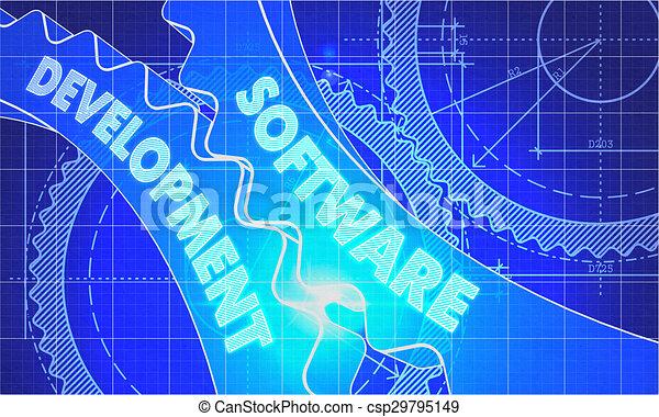 Software development concept blueprint of gears software software development concept blueprint of gears csp29795149 malvernweather Gallery