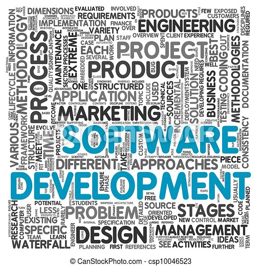 Software development concept in tag cloud - csp10046523