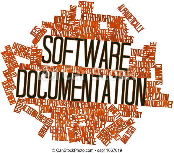 Abstract Word Cloud For Software Documentation With Related Tags And - Software documentation