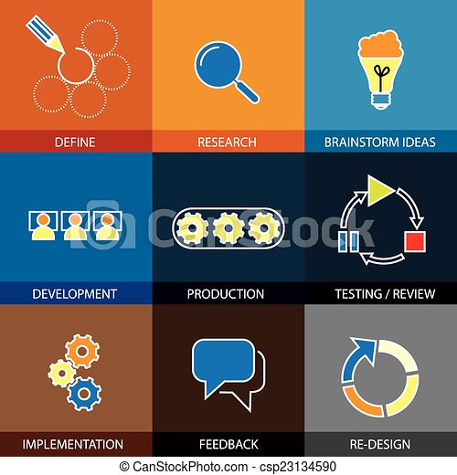 software engineering, project planning - concept vector flat lin - csp23134590