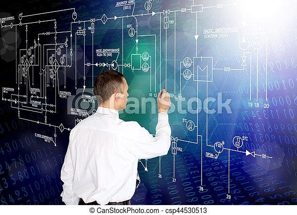 software, industrial, geração, engenharia, fabricando, tecnologia, engineer.developer.designing - csp44530513
