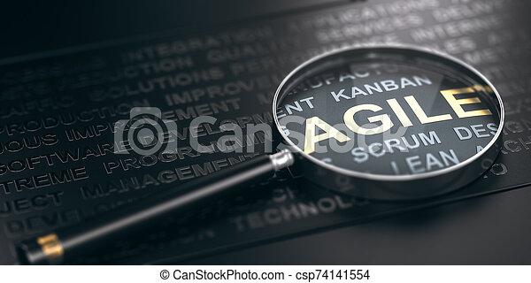software, methodology., proyecto, development., foco, ágil, dirección - csp74141554
