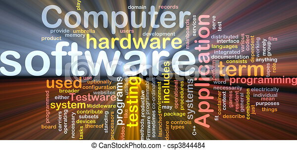 Software word cloud box package - csp3844484