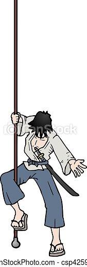 Colgando una cuerda - csp42593239
