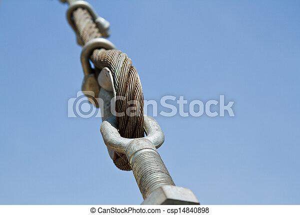 soga, alambre, bridges. - csp14840898