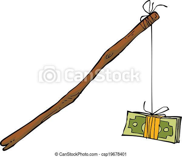 Dinero en una cuerda - csp19678401
