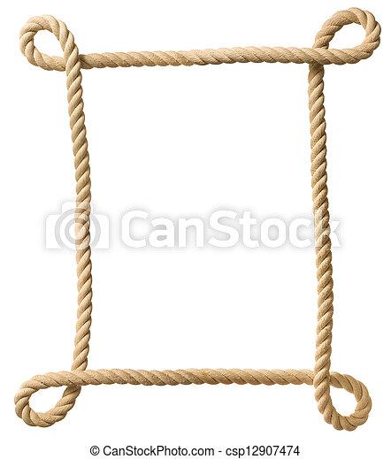 Cuadro de cuerdas aislado en blanco - csp12907474