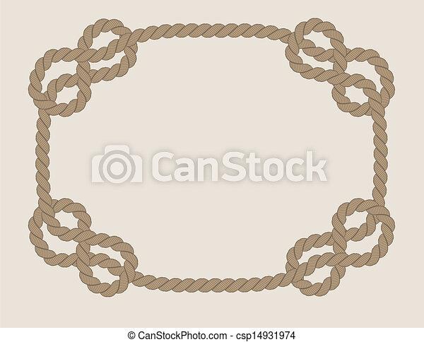 Frame hecha de cuerda - csp14931974