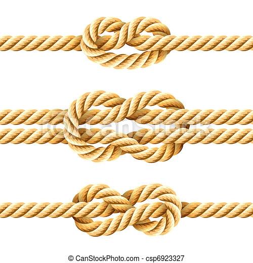 Nudos de cuerda - csp6923327